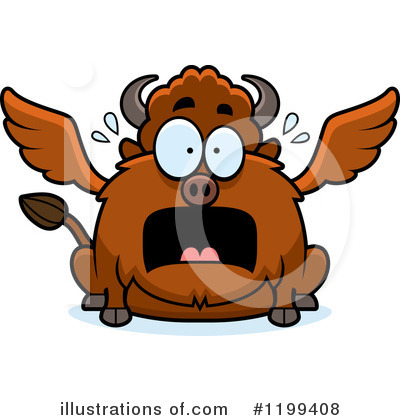 Winged Buffalo Clipart #1199408 by Cory Thoman