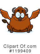 Royalty-Free (RF) Winged Buffalo Clipart Illustration #1199409