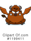 Royalty-Free (RF) Winged Buffalo Clipart Illustration #1199411