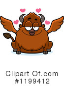 Royalty-Free (RF) Winged Buffalo Clipart Illustration #1199412