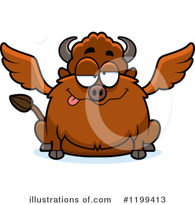 Winged Buffalo Clipart #1199413 by Cory Thoman