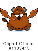 Royalty-Free (RF) Winged Buffalo Clipart Illustration #1199413