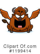 Royalty-Free (RF) Winged Buffalo Clipart Illustration #1199414