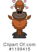 Royalty-Free (RF) Winged Buffalo Clipart Illustration #1199415