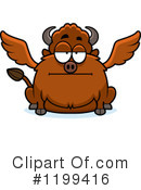 Royalty-Free (RF) Winged Buffalo Clipart Illustration #1199416