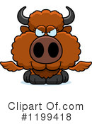 Royalty-Free (RF) Winged Buffalo Clipart Illustration #1199418