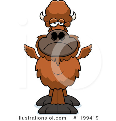 Winged Buffalo Clipart #1199419 by Cory Thoman