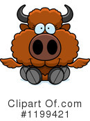 Royalty-Free (RF) Winged Buffalo Clipart Illustration #1199421