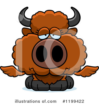 Winged Buffalo Clipart #1199422 by Cory Thoman