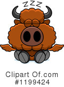 Royalty-Free (RF) Winged Buffalo Clipart Illustration #1199424