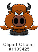 Royalty-Free (RF) Winged Buffalo Clipart Illustration #1199425
