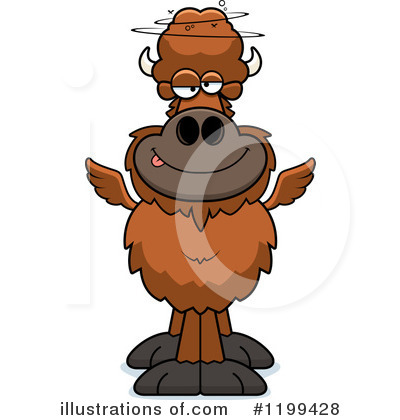 Winged Buffalo Clipart #1199428 by Cory Thoman