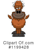 Royalty-Free (RF) Winged Buffalo Clipart Illustration #1199428