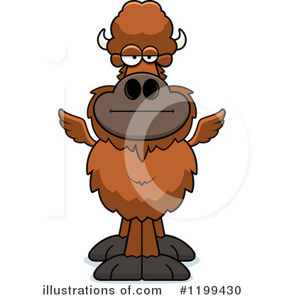 Winged Buffalo Clipart #1199430 by Cory Thoman