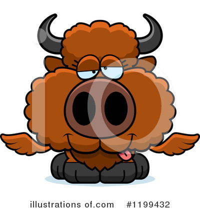 Royalty-Free (RF) Winged Buffalo Clipart Illustration by Cory Thoman - Stock Sample #1199432