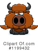 Winged Buffalo Clipart #1199432 by Cory Thoman