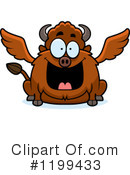 Royalty-Free (RF) Winged Buffalo Clipart Illustration #1199433