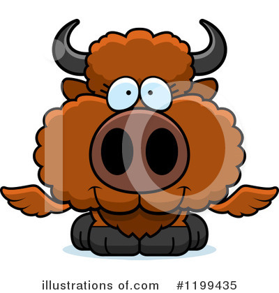 Winged Buffalo Clipart #1199435 by Cory Thoman