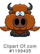 Royalty-Free (RF) Winged Buffalo Clipart Illustration #1199435
