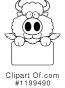 Winged Buffalo Clipart #1199490 by Cory Thoman