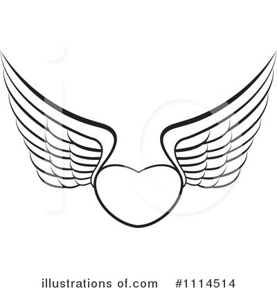 Winged Heart Clipart #1114514 by Lal Perera