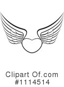 Royalty-Free (RF) winged heart Clipart Illustration #1114514
