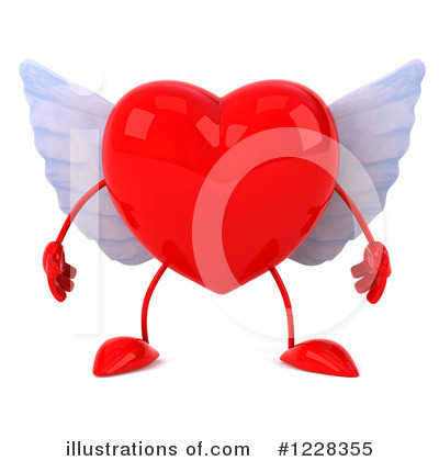Winged Heart Clipart #1228355 by Julos