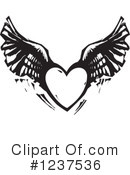 Royalty-Free (RF) Winged Heart Clipart Illustration #1237536
