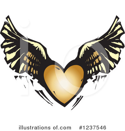 Winged Heart Clipart #1237546 by xunantunich