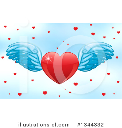 Winged Heart Clipart #1344332 by Graphics RF