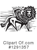 Winged Lion Clipart #1291357 by xunantunich