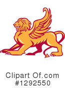 Winged Lion Clipart #1292550 by patrimonio