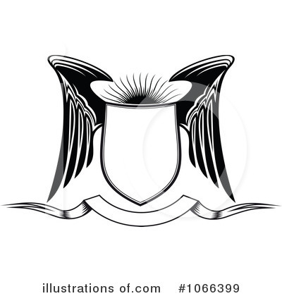 Royalty-Free (RF) Winged Shield Clipart Illustration by Vector Tradition SM - Stock Sample #1066399