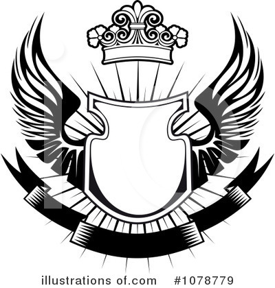 Winged Shield Clipart #1078779 by Vector Tradition SM