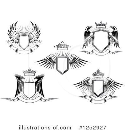 Winged Shield Clipart #1252927 by Vector Tradition SM