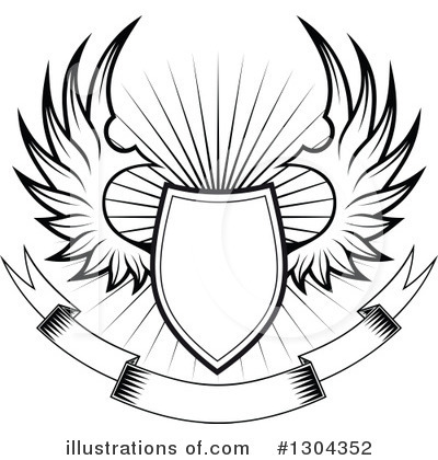 Winged Shield Clipart #1304352 by Vector Tradition SM