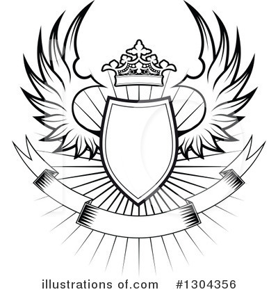 Winged Shield Clipart #1304356 by Vector Tradition SM