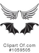 Wings Clipart #1059505 by Any Vector