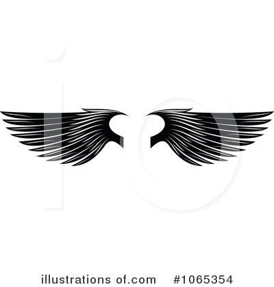 Royalty-Free (RF) Wings Clipart Illustration by Vector Tradition SM - Stock Sample #1065354