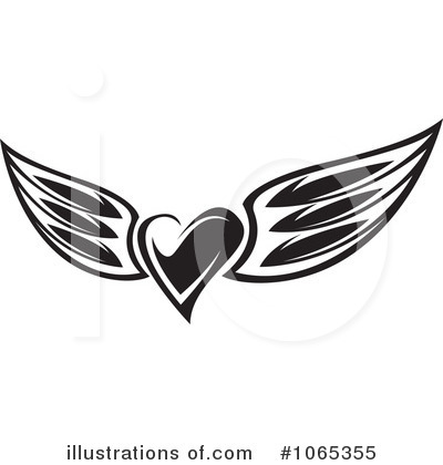 Winged Heart Clipart #1065355 by Vector Tradition SM