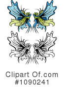 Royalty-Free (RF) Wings Clipart Illustration #1090241