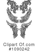 Royalty-Free (RF) Wings Clipart Illustration #1090242