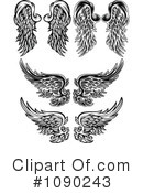 Wings Clipart #1090243 by Chromaco