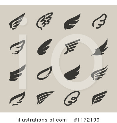 Wing Logo Clipart #1172199 by elena