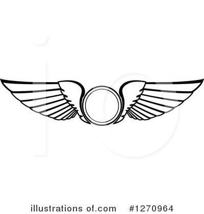 Wing Logo Clipart #1270964 by Vector Tradition SM