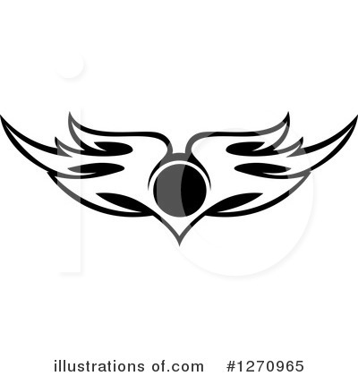 Wing Logo Clipart #1270965 by Vector Tradition SM