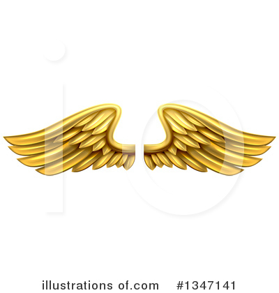 Wings Clipart #1347141 by AtStockIllustration