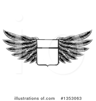 Wings Clipart #1353063 by AtStockIllustration