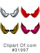 Royalty-Free (RF) wings Clipart Illustration #31997