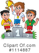 Royalty-Free (RF) Winner Clipart Illustration #1114887